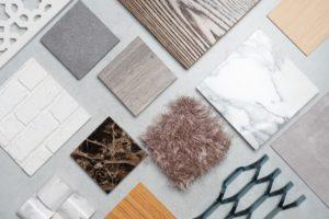 Different flooring options, tile, wood, carpet